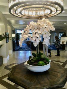 Hospitality silk flower arrangements