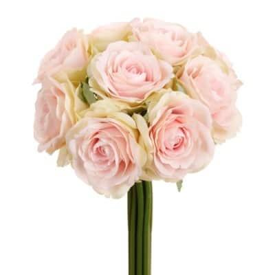 silk Pink Rose Bouquet silk bridal flowers