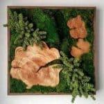 Preserved moss wall art