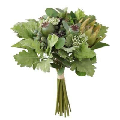 silk Protea Poppy Bouquet silk bridal flowers