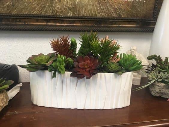 artificial Succulent arrangements in Decor planter