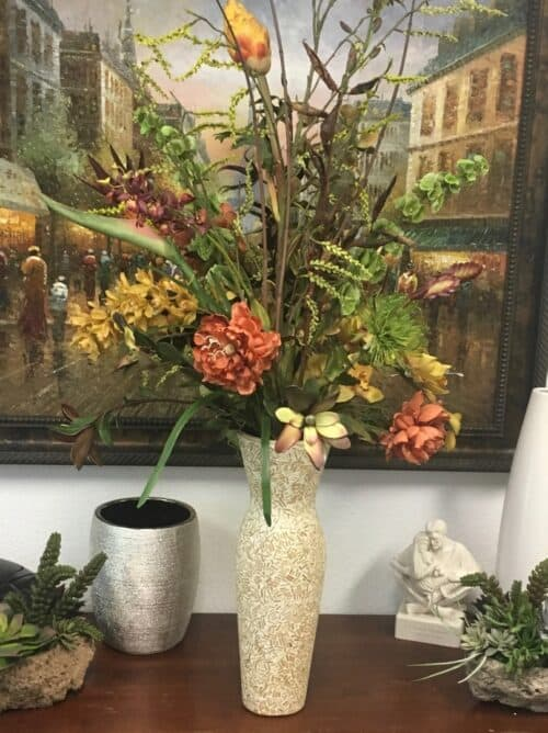 Traditional Floral Silk Flower Arrangements