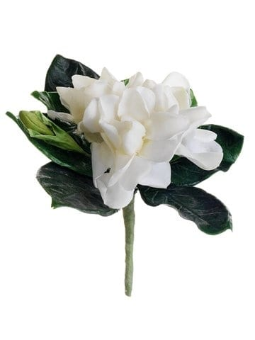 silk White Gardenia Boutonniere silk bridal flowers