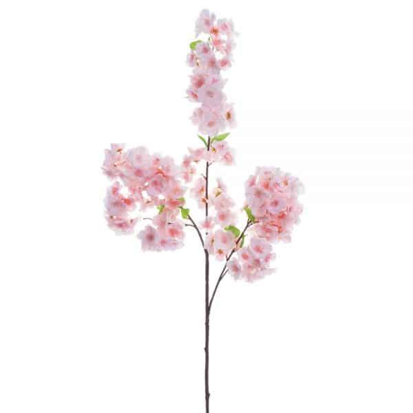 artificial pink cherry blossom spray